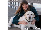 photo of lynne cox and her dog