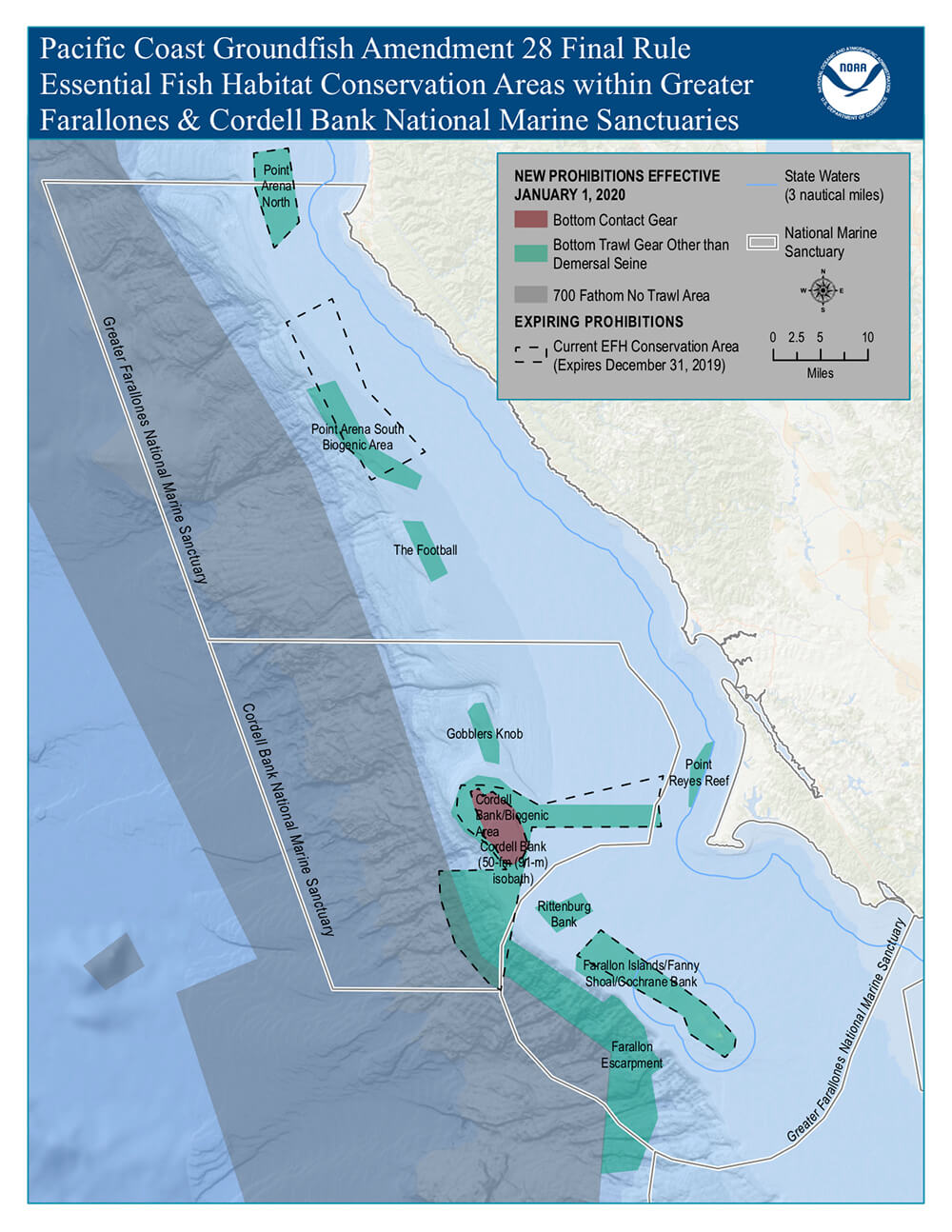 Map showing new Groundfish amendment 28 zones